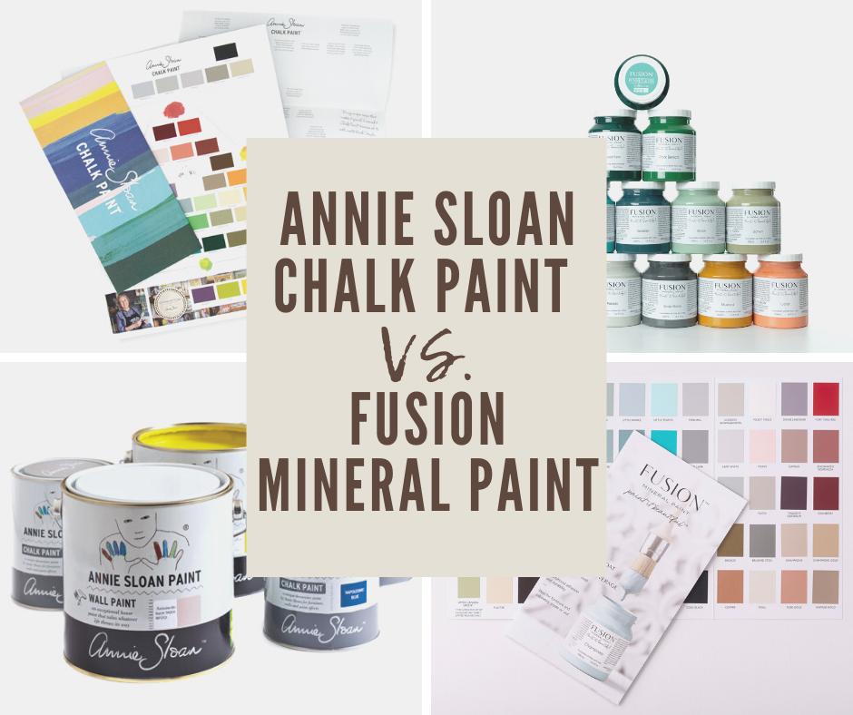 FUSION Mineral paint vs. Annie Sloan Chalk Paint - porovnanie