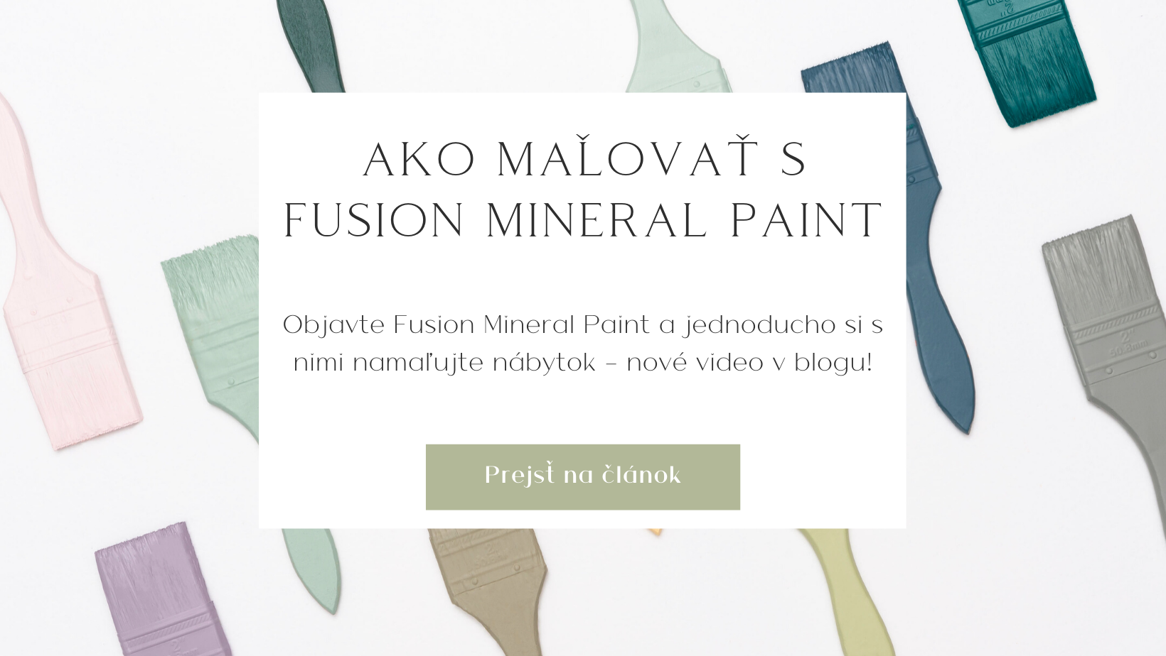 Ako maľovať s Fusion Mineral Paint