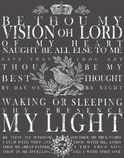 "IOD Décor Transfer ""Be Thou My Vision"" L"