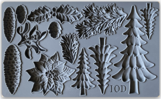 IOD Décor Mould Boughs of Holly - silikónová forma
