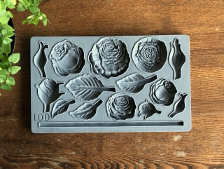 IOD Décor Mould Heirloom Roses - silikónová forma