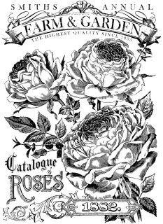 IOD Paintable Décor Transfer Catalogue of Roses